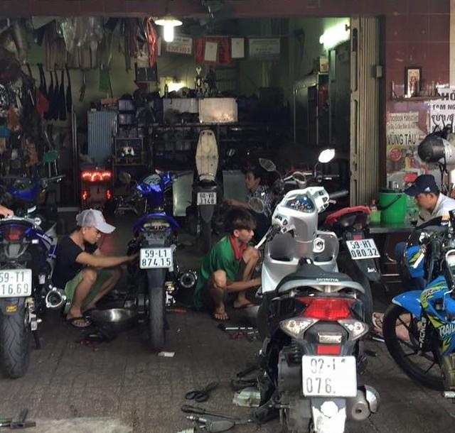 Mở cửa hàng sửa xe máy